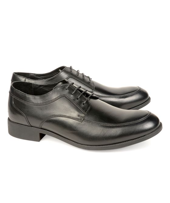 Leatherplus Black Formal Lace up Shoes for Men (12165)