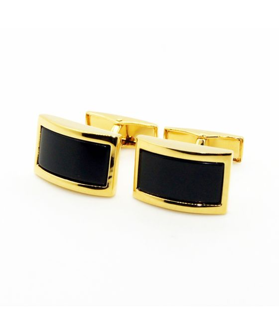 Black Color Enamel Cufflinks (152360)
