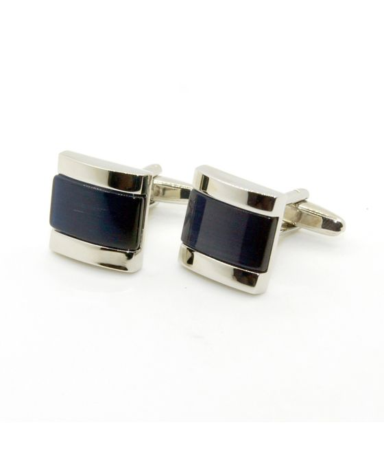 Black Color Agate Cufflinks (152695)
