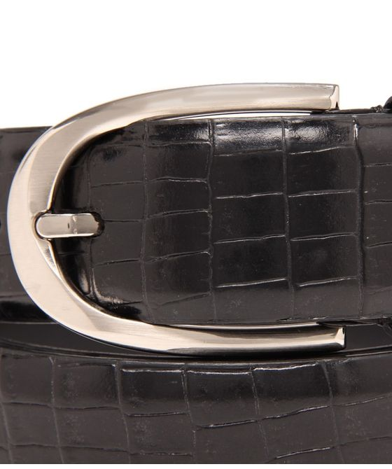 Leatherplus Black Belt for Men(C-187)