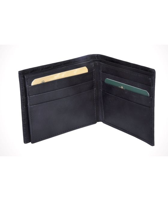 Leatherplus Black Wallet for Men(2074)