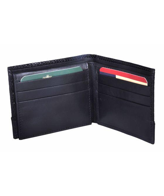 Leatherplus Black Wallet for Men(2073)