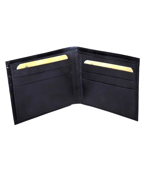 Leatherplus Black Wallet for Men(2063)