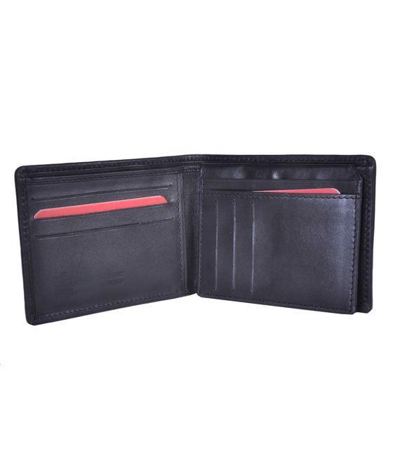 Leatherplus Black Wallet for Men(2067)