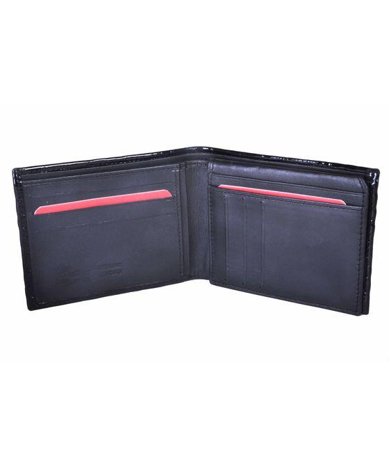 Leatherplus Black Wallet for Men(2064)
