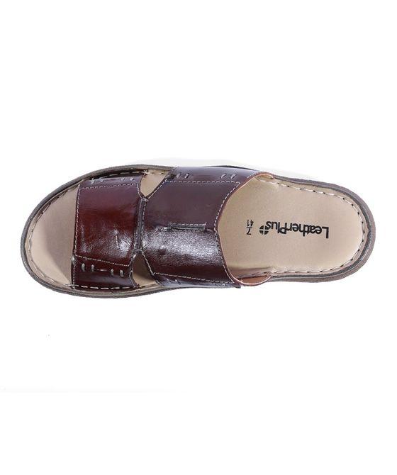 Leatherplus Brown  Slipon Sandal  for Men (12314B)