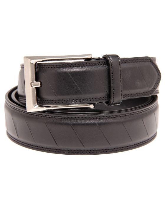 Leatherplus Black Belt for Men(C-1550)