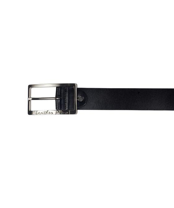 Leatherplus Black Belt for Men(ST-727)