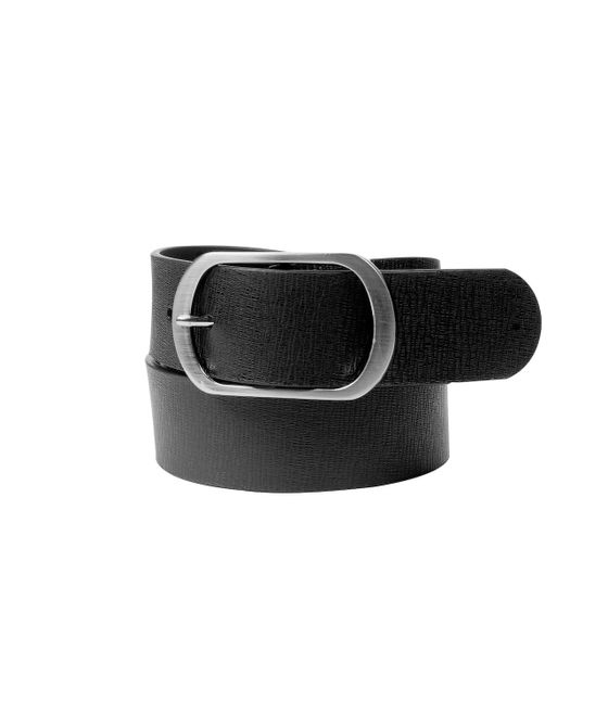 Leatherplus Black Belt for Men(B-414)