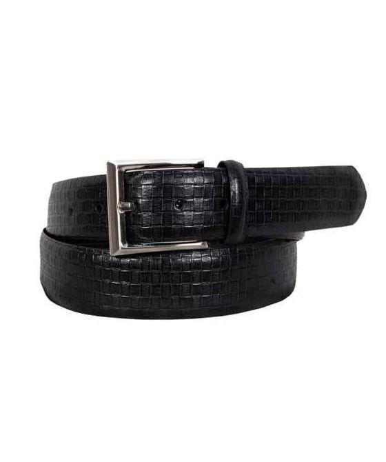 Leatherplus Black Belt for Men (C-210)