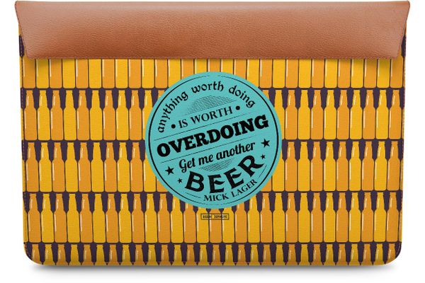 Another Beer Real Leather Envelope Sleeve For MacBook Pro 15
