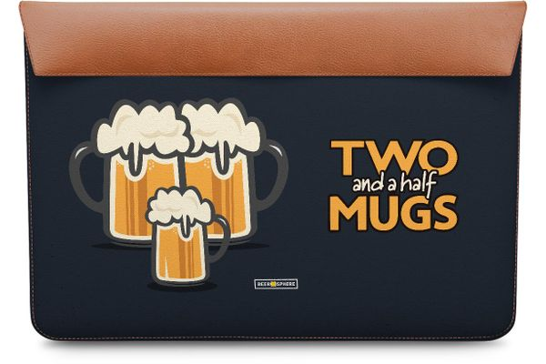 Beer 2.5 Mugs Real Leather Envelope Sleeve For MacBook Pro 13""
