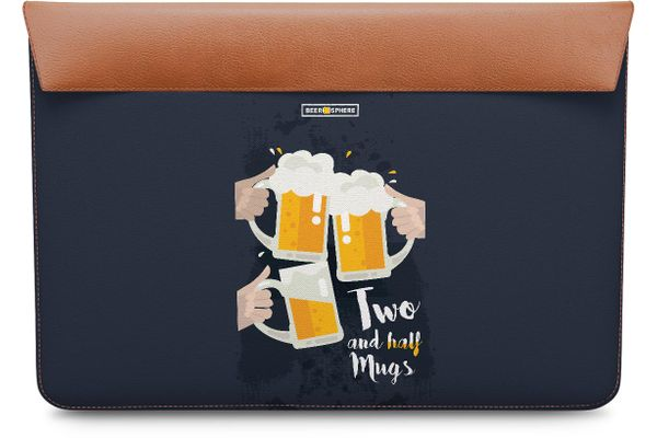 Beer 2.5 Mugs Clink Real Leather Envelope Sleeve For MacBook Pro 15""