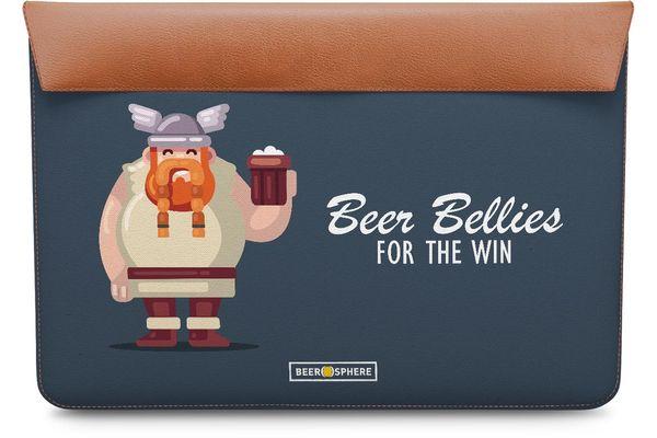 """Beer Bellies FTW Real Leather Envelope Sleeve For MacBook 12"""""""