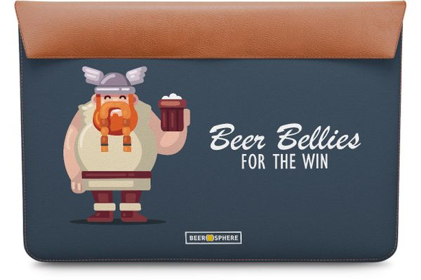 Beer Bellies FTW Real Leather Envelope Sleeve For MacBook Pro 15""