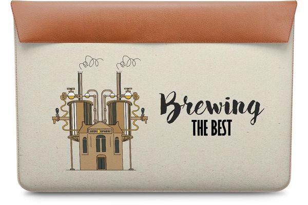 "Beer Brewing The Best Real Leather Envelope Sleeve For MacBook 12"""