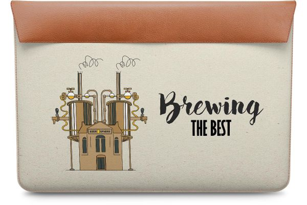 """Beer Brewing The Best Real Leather Envelope Sleeve For MacBook Pro 15"""""""