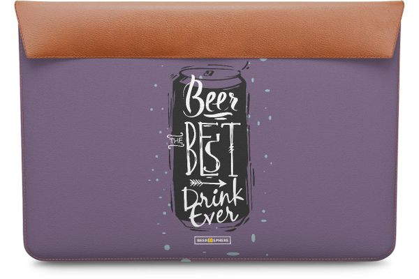 "Beer Da Best Real Leather Envelope Sleeve For MacBook 12"""