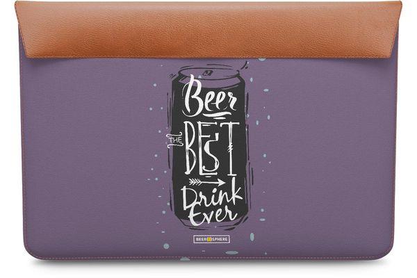 "Beer Da Best Real Leather Envelope Sleeve For MacBook Pro 15"""