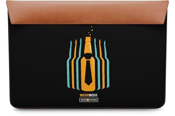 """Beer Iz Boss Real Leather Envelope Sleeve For MacBook Air 13"""""""