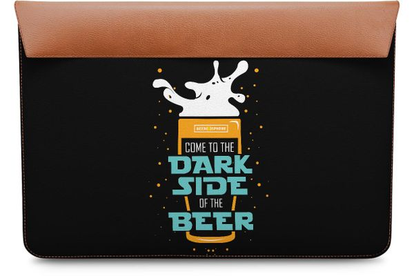 Beer BoK Real Leather Envelope Sleeve For MacBook Pro 15""