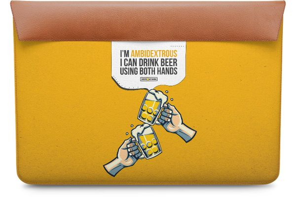 """Beer Chug Real Leather Envelope Sleeve For MacBook Pro 13"""""""
