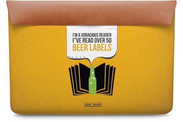 "Beer Labels Real Leather Envelope Sleeve For MacBook Air 11"""