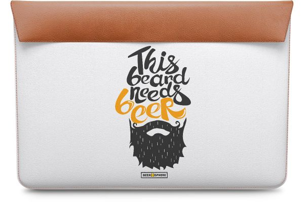 Beer Shampoo Real Leather Envelope Sleeve For MacBook Air 13""
