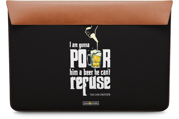 Cant Refuse Beer Real Leather Envelope Sleeve For MacBook Air 11""