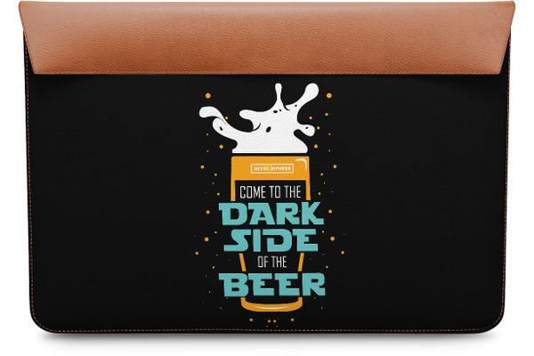Dark Beer Rules Real Leather Envelope Sleeve For MacBook Air 13""
