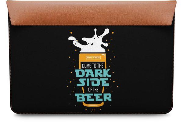 """Dark Beer Rules Real Leather Envelope Sleeve For MacBook Pro 15"""""""