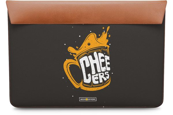 Life is BREWtiful Real Leather Envelope Sleeve For MacBook Pro 15""