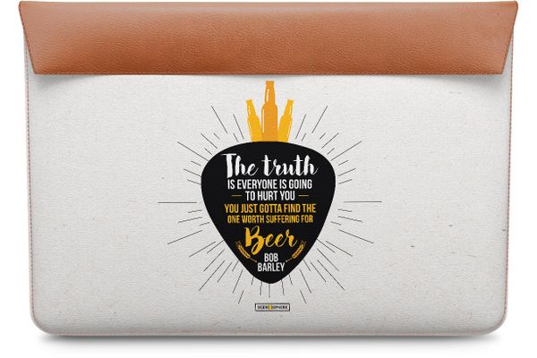 """Truth Is Beer Real Leather Envelope Sleeve For MacBook Pro 15"""""""