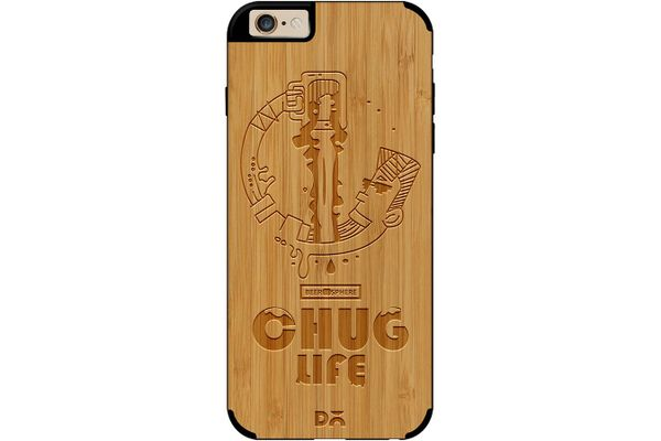 Beer Chug Life Real Wood Bamboo Case For iPhone 6