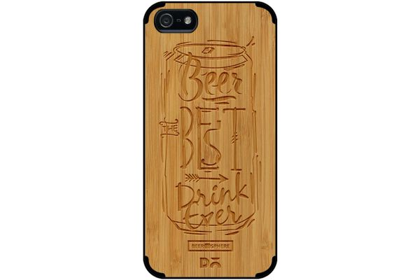Beer Da Best Real Wood Bamboo Case For iPhone 5/5S