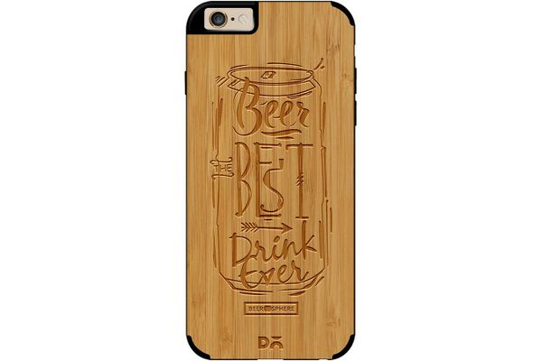 Beer Da Best Real Wood Bamboo Case For iPhone 6