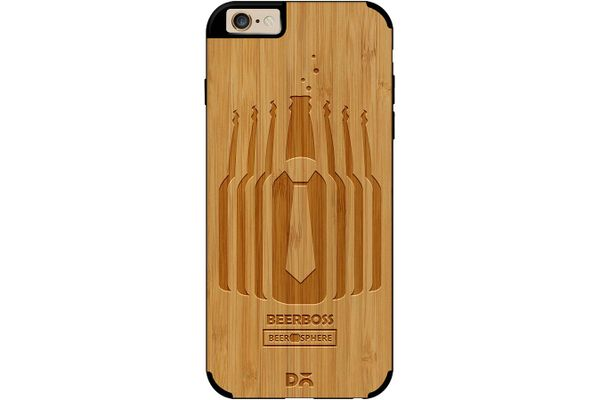 Beer Iz Boss Real Wood Bamboo Case For iPhone 6