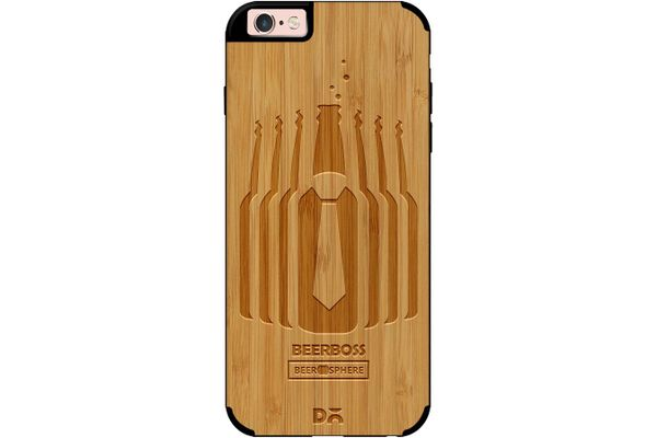 Beer Iz Boss Real Wood Bamboo Case For iPhone 6S