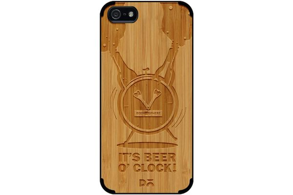 Beer O'Clock Froth Real Wood Bamboo Case For iPhone 5/5S