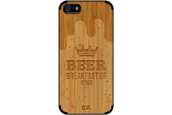 Beer BoK Real Wood Bamboo Case For iPhone 5/5S