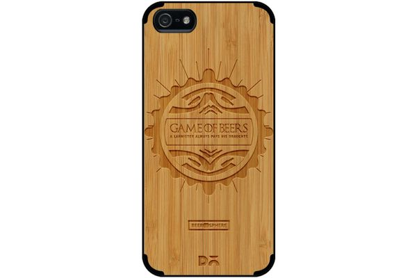 Beer GoT Real Wood Bamboo Case For iPhone 5/5S
