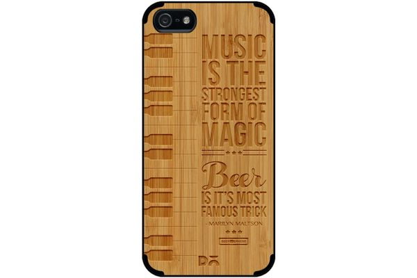 Beer Magic Real Wood Bamboo Case For iPhone 5/5S
