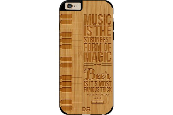Beer Magic Real Wood Bamboo Case For iPhone 6