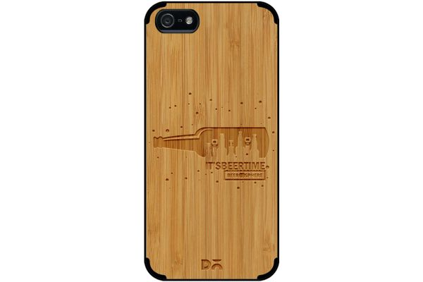 Beer O'Clock Real Wood Bamboo Case For iPhone 5/5S
