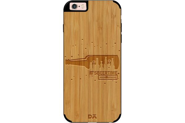 Beer O'Clock Real Wood Bamboo Case For iPhone 6S