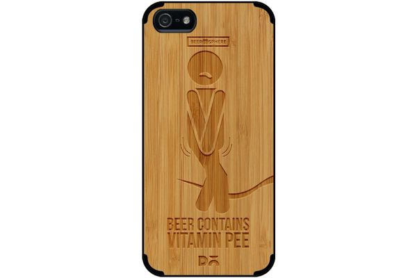 Beer Pressure Real Wood Bamboo Case For iPhone 5/5S