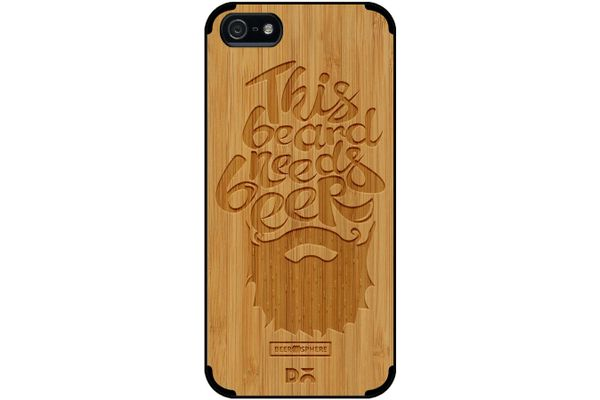 Beer Shampoo Real Wood Bamboo Case For iPhone 5/5S