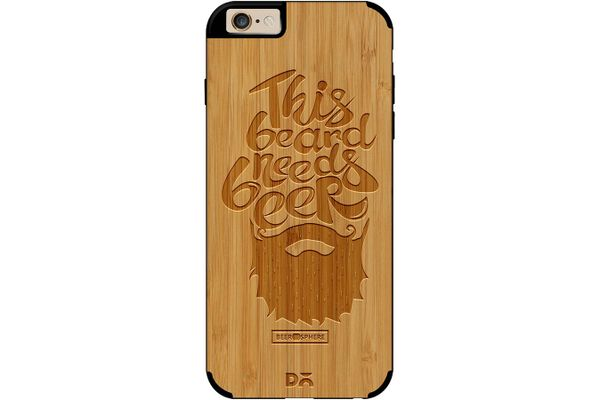 Beer Shampoo Real Wood Bamboo Case For iPhone 6
