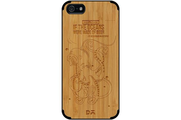 Beer topus Real Wood Bamboo Case For iPhone 5/5S