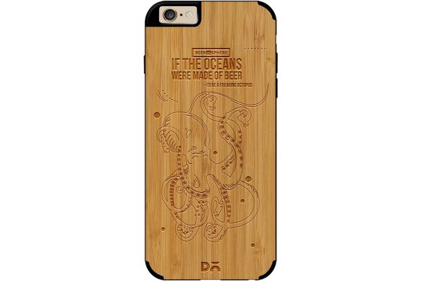 Beer topus Real Wood Bamboo Case For iPhone 6